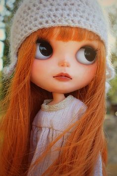 Lovely Custom Blythe Doll  Hairs of gold blowing in the wind...  #doll #custom #blythe