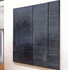 Pierre Soulages, i feel like this guy gets me Tachisme, Spirited Art, Artwork Display, Art Moderne, Op Art, Black Art, Painting Inspiration, Canvas Wall Art, Contemporary Art