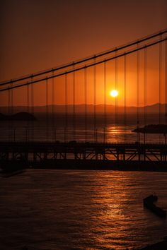 Sunset in Great Seto Bridge, Seto Inland Sea, Okayama and Kagawa in Japan