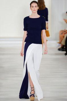 New York Fashion Week коллекция весна-лето 2016 Ralph Lauren, вязаная мода 2016, модные вязаные тренды весна-лето 2016, модные джемперы и майки 2016 (фото 6)