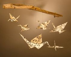 Peace Crane Mobile  Sheet Music by KateNissa on Etsy, $75.00