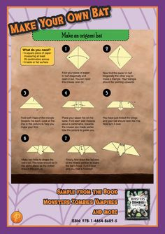 Looking for a quick and effective way to decorate your party? Our easy '7-step origami bat' is a perfect spooky prop to add a bit of extra scare to your party! Whether you hang them from the ceiling or place them on the dining room table, these blood-sucking creatures are sure to make an impact.