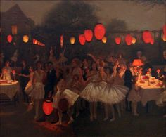 thomas cooper gotch(1854–1931), study for 'the birthday party'. oil on canvas, 50.8 x 61 cm. falmouth art gallery, uk http://www.bbc.co.uk/arts/yourpaintings/paintings/study-for-the-birthday-party-14744