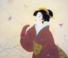 女は花である — Kaburagi Kiyokata (1878-1972) 鏑木清方    First...