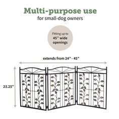 (This is an affiliate pin) Hoovy Freestanding Metal Pet Gate: Foldable & Extendable Dog & Puppy Gate for Home & Office Use | Keeps Pets Safe | No Assembly Required | Portable & Durable Design (Metal Leaf Design) #DogFence Small Puppies, Dogs And Puppies, Leaf Design, Dog Design, Gate For Home, Puppy Gates, Two Couches, Arch Gate, Metal Arch
