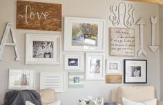 Love this for an updated hallway gallery look.