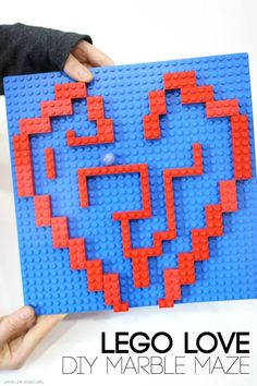 Lego Love Diy Marble Maze Great for Engineering and Busy Fingers