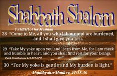 Shabbath Shalom mishpacha!