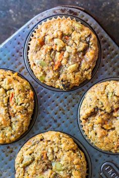 Moist, delicious breakfast muffins loaded with protein, fiber, and a ridiculous amount of vitamin and minerals. All real food ingredients. delicious food Loaded Breakfast Muffins (gluten free and paleo) Healthy Breakfast Muffins, Breakfast Time, Breakfast Smoothies, High Fiber Breakfast, Vegan Gluten Free Breakfast, Healthy Breakfast On The Go, Savory Muffins, Egg Muffins, Breakfast Casserole