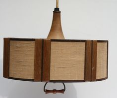 Vintage Danish Modern Mid Century Wood and Fiberglass by Modnique, $175.99