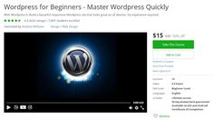 Coupon Udemy - Wordpress for Beginners - Master Wordpress Quickly ($15 Only) (50% Off) - Course Discounts & Free