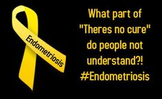 There is NO Cure for Endometriosis March is endometriosis awareness month. Help find a cure help spread awareness