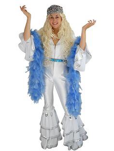 Abba White Jumpsuit - Angels Fancy Dress Costumes