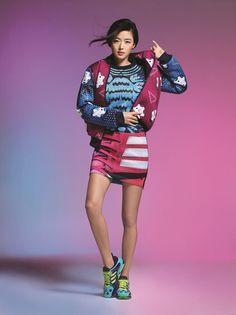 Jun Ji Hyun for Adidas Originals X Mary Katrantzou Sporty Chic Outfits, Jun Ji Hyun, Fashion Bible, Sports Luxe, Mary Katrantzou, Ss 15, All About Fashion, Christmas Sweaters, Ideias Fashion