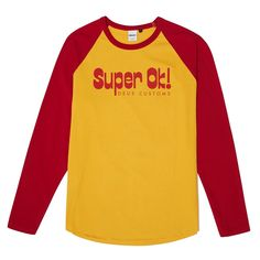 https://shop.us.deuscustoms.com/collections/new-arrivals/products/super-ok-raglan-tee-yellow-red