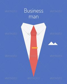 Business Leader Concept  #GraphicRiver         Flat design modern vector illustration poster concept of businessman suit with sample text symbolizing success leader person.