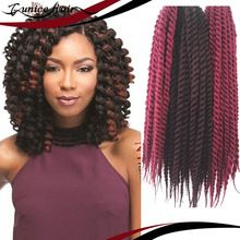 Crochet Hair Loss : Mambo Twist Crochet Braids Hair 12-24 Synthetic Crochet B...