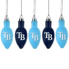 Tampa Bay Rays Bulb Ornaments