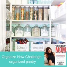 An organized pantry is essential for saving time and money. It is also a crucial piece for feeding your family healthy foods! By spending a little time this week organizing your pantry you can set up a simple, efficient system that will work for you the entire year. No more buying items you don't need or eating expired food! You will no exactly what is in your pantry which will help ease the tasks of grocery shopping and meal planning. Pantry Organization, Organizing, Expired Food, Paper Clutter, Organized Mom, How Are You Feeling, Challenges, Saving Time, Healthy Foods