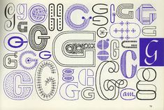 From A Handbook of Lettering for Stitchers by Elsie Svennas (1973)