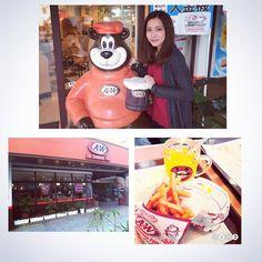 「今日.A&W行ってきました☺️♩ オレンジジュース美味しかった〜♡ #沖縄 #宮古島 #エンダー」