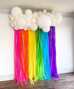Trolls Birthday Party, Troll Party, Unicorn Birthday Parties, Birthday Party Themes, My Little Pony Birthday Party, Birthday Ideas, Unicorn Birthday Decorations, Birthday Garland, Diy Rainbow Birthday Party