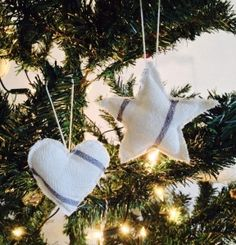 DIY TUTORIAL to make these cute little tree decorations. Really easy to follow!
