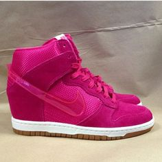 sports shoes 48907 56dcd Nike Dunk Wedge in Hot Pink