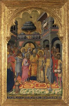 The Marriage of Joseph and Mary c. 1370 - 1388. National Gallery, London By Niccolò di Buonaccorso