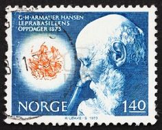 Norway, Dr. Armauer G. Hansen, Microscopic View of Leprosy Bacillus, ca 1973