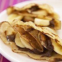 Chocolate and banana pancakes  6PP