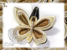 МК *бабочка* из атласных лент в технике канзаши: Рукоделие - Страна Мам