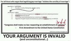 first amendment and same sex marriage debate