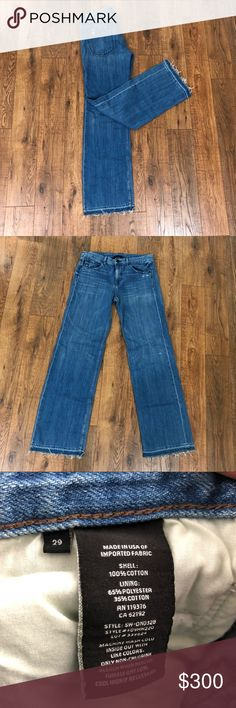 Helmut Lang raw edge flare Excellent condition Helmut Lang jeans. Questions and offers welcome! Helmut Lang Jeans Flare & Wide Leg