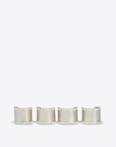 767d5f67a Maison Margiela Set Of 4 Silver Rings Women‎