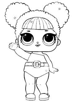 Glitter – LOL Surprise Doll Coloring Pages Bee Coloring Pages, Unicorn Coloring Pages, Cartoon Coloring Pages, Coloring Pages For Kids, Coloring Books, Chibi Kawaii, Kindergarten Coloring Pages, Doll Party, Lol Dolls