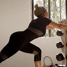 New trendy GIF/ Giphy. beyonce working out work out stretching lunge ivy park. Let like/ repin/ follow @cutephonecases