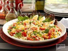 Receita de Salada de arroz Tio Urbano - Tudo Gostoso