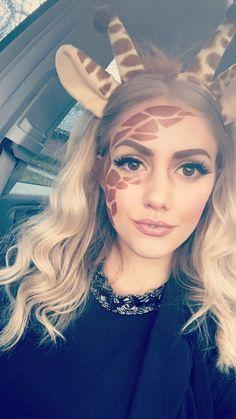 Giraffen-Halloween-Make-up - www. - This is Halloween - Make-up Looks Halloween, Halloween Costume Diy, Halloween Mono, Couples Halloween, Halloween Tags, Halloween 2017, Holidays Halloween, Scary Halloween, Costume Ideas