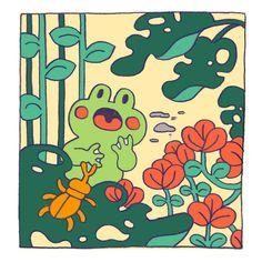 Pretty Art, Cute Art, Posca Art, Frog Art, Cute Frogs, Aesthetic Art, Art Sketchbook, Wall Collage, Art Hoe