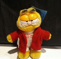 Vintage Dakin 9  Garfield dads day off Plush Collectible  | eBay