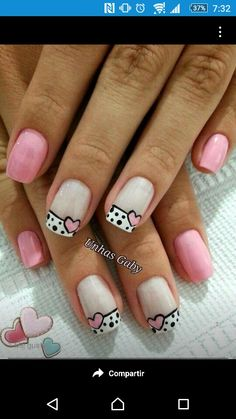 Blue is an elegant and always fashionable color: manicure enthusiasts cannot leave it aside for the next season! What are the most beautiful blue nail art? Toe Nails, Pink Nails, Nail Nail, Nail Glue, Nail Polish, Valentine Nail Art, Nails For Kids, Heart Nails, Cute Nail Art