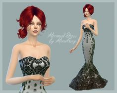 Mermaid Dress by MoonFairy at Everything for your sims via Sims 4 Updates