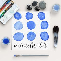 Watercolour Circles Clip Art -  http://etsy.me/2awubrN This listing is for 9 pieces of high quality watercolor dots.