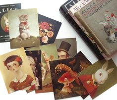 amazing alice in wonderland postcard collection