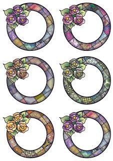 Sheet with six round rose frames - A Digital Collage Sheet with six different round frames, each frame decorated with a cluster of three . Scrapbook Frames, Digital Collage, Collage Sheet, Roses, Paper Crafts, Symbols, Art, Moldings, Decorative Paper