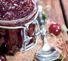 Čerešňový džem s mätou