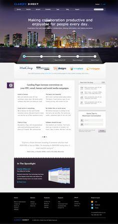 marketing and advertising agency homepage (free psd) on Behance