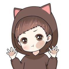 男头像 猫耳朵和兔耳朵系列11 Love Cartoon Couple, Chibi Couple, Cute Love Cartoons, Cute Love Couple, Anime Love Couple, Cute Anime Couples, Chibi Wallpaper, Bear Wallpaper, Cartoon Wallpaper