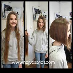 Super Long Hair, Beautiful Long Hair, Long Hair Cuts, Cut Off, Bob Hairstyles, Bobs, Cute Kids, Short Hair Styles, Hair Beauty